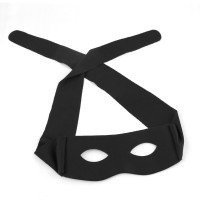 Tie-Back Black Mask