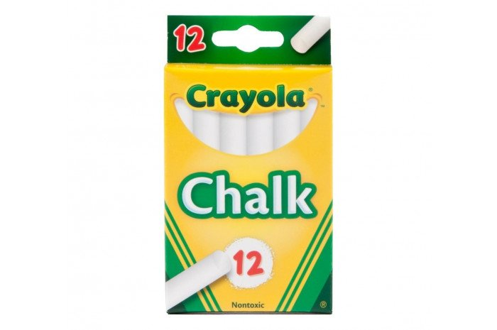 Crayola Children's Chalk - 12 ct White