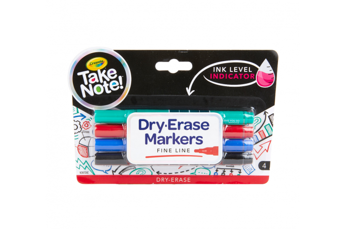 Crayola Dry Erase Markers 4 pack