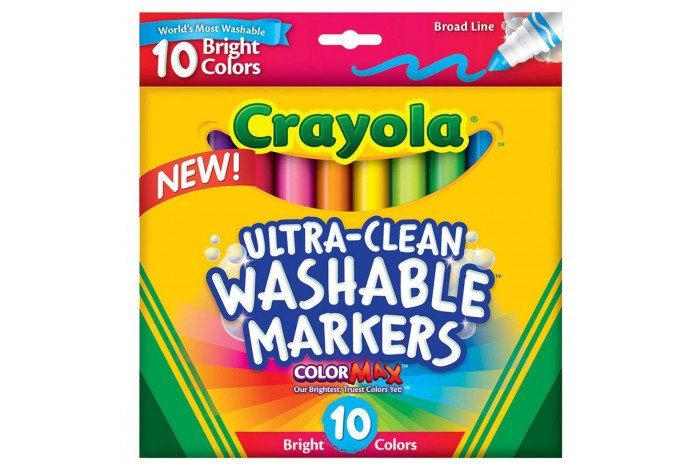 Crayola Ultra-Clean Markers, Broad Line Bright