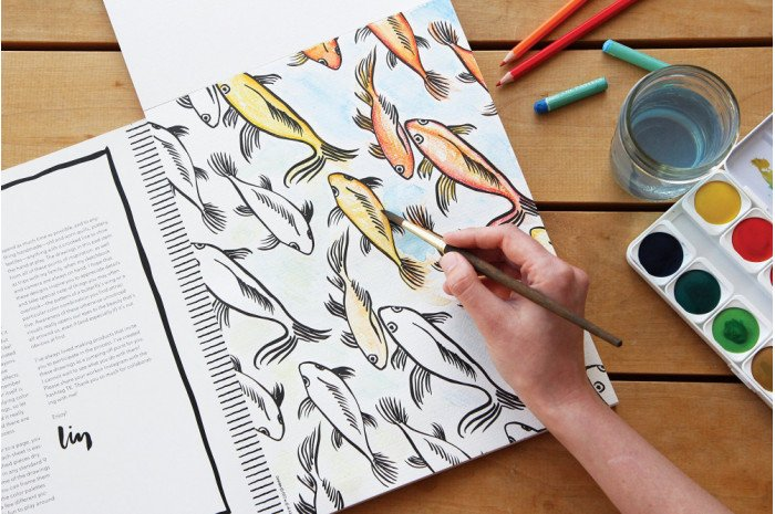 Splash of Color: Painting & Coloring Book