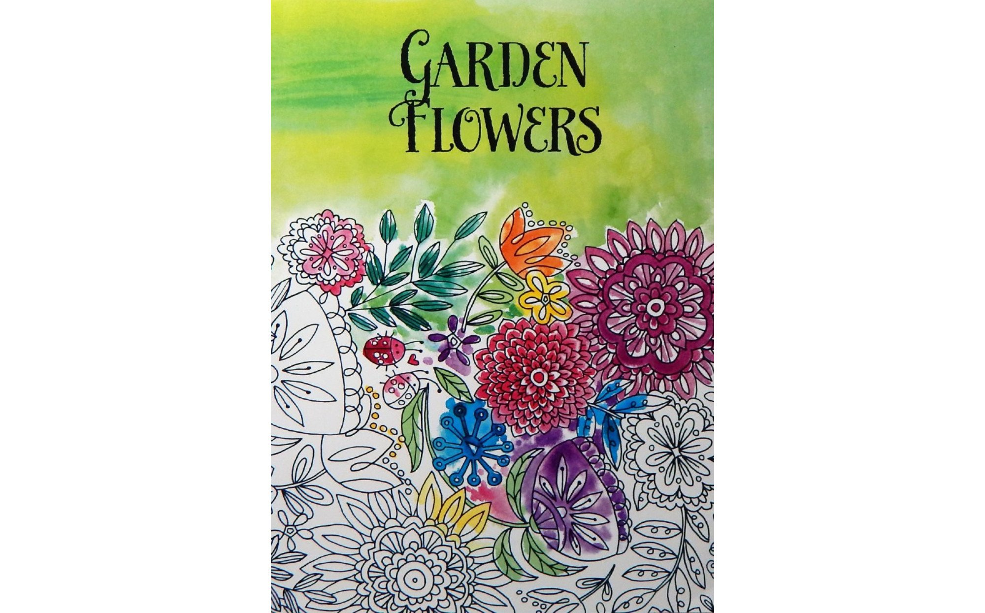 Garden Flowers An Adult Coloring Book