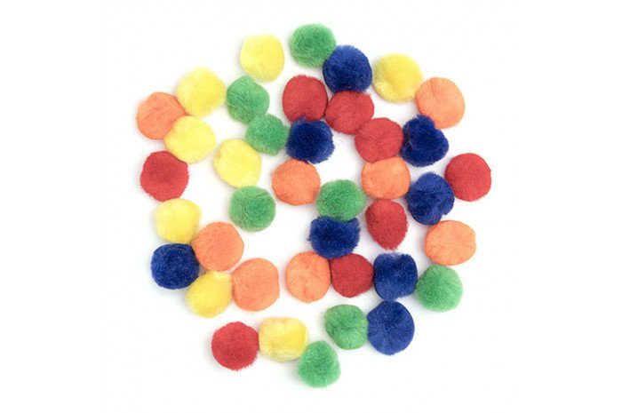Pom Poms (40 pieces of Primary Colors)