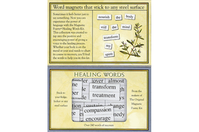 Healing Words Magnetic Poetry Kit