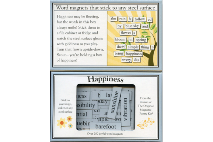 Happiness Magnetic Poetry Kit
