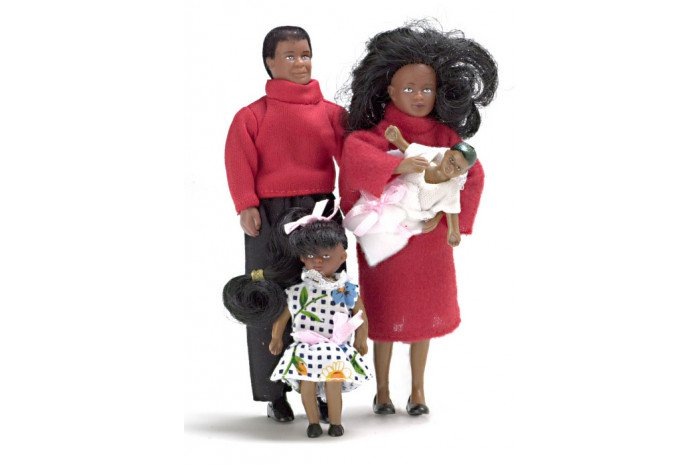 Vinyl Doll Family (4 Piece African American)