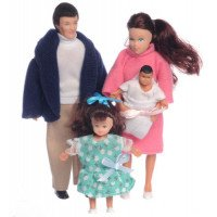 Vinyl Doll Family (4 Piece Caucasian)