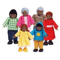 African American Doll Family (6 Piece)