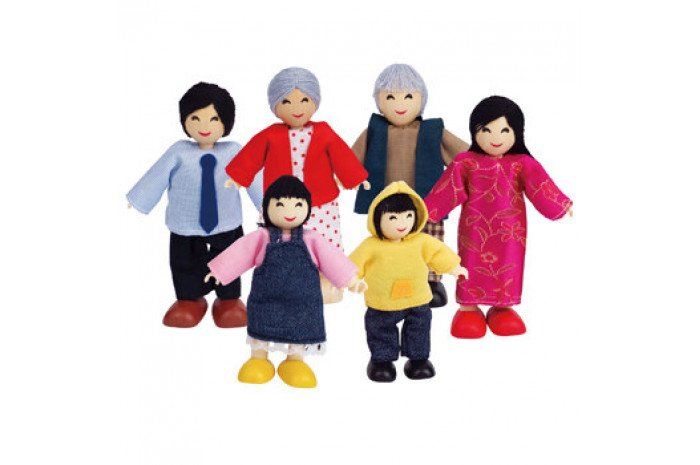 Asian Doll Family (6 Piece)