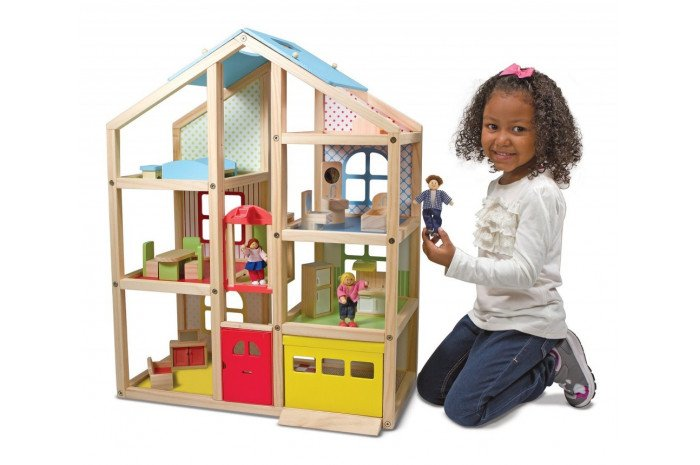 Hi-Rise Wooden Dollhouse (Furnished)