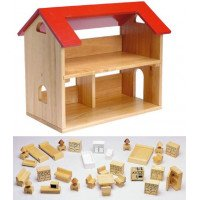 Solid Wood Dollhouse (Available Furnished or Unfurnished)