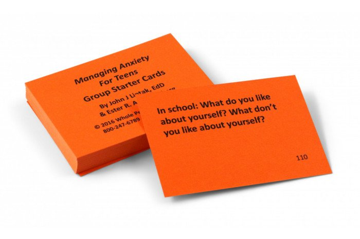 Managing Anxiety for Teens Group Starter Card Deck