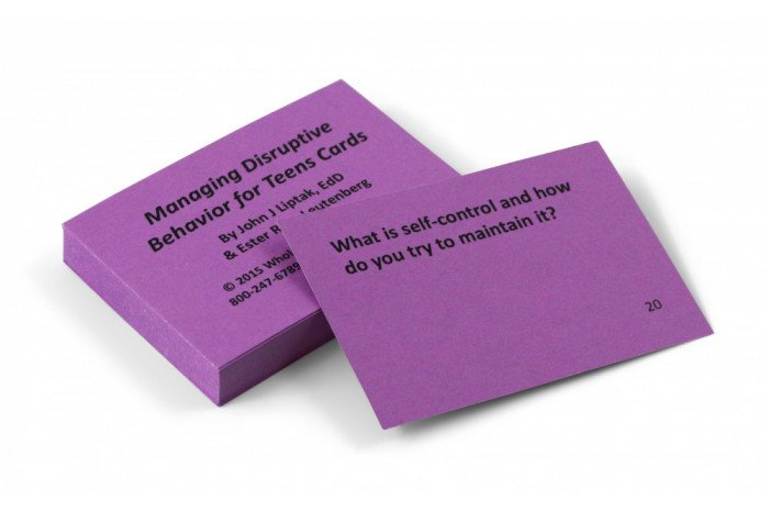 Managing Disruptive Behavior for Teens Card Deck
