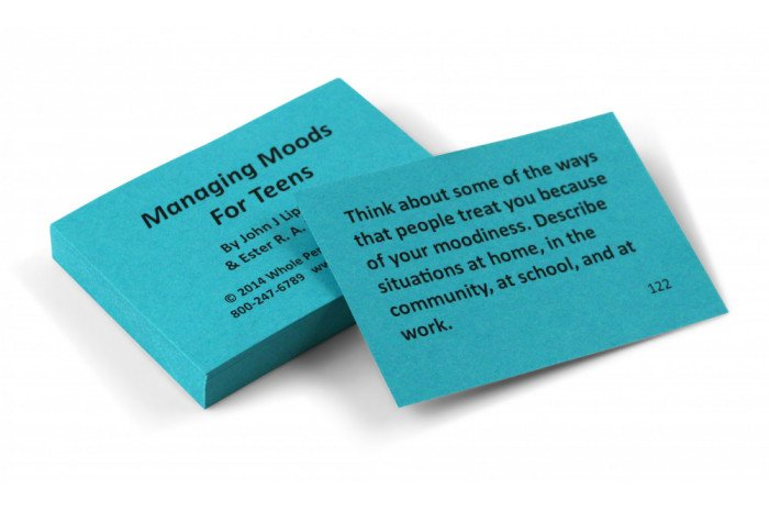 Managing Moods for Teens Card Deck