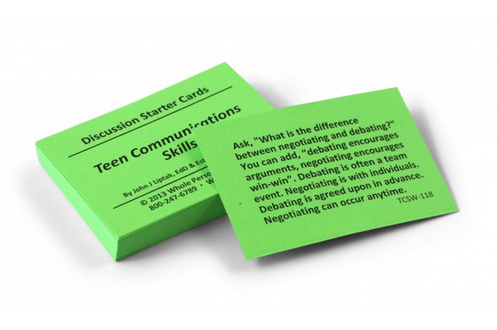 Teen Communication Skills Card Deck