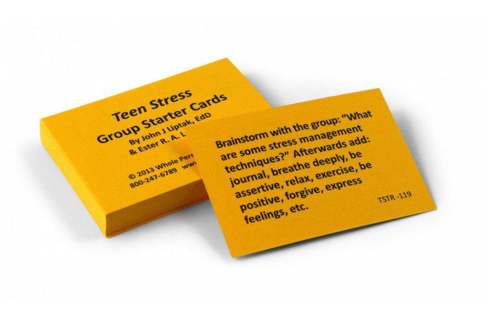 Teen Stress Card Group Starter Deck