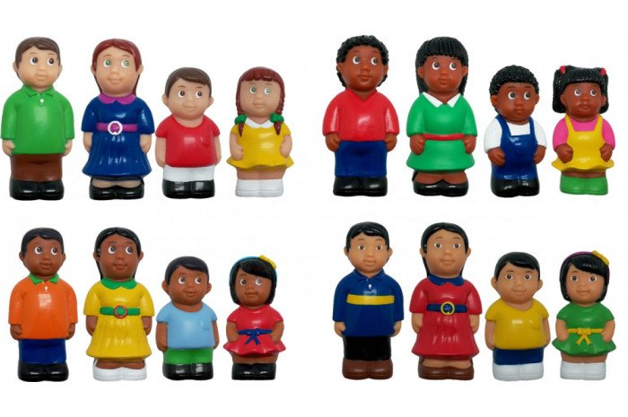 Multicultural Families (Set of 16 Chunky Figures)