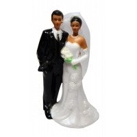 Bride and Groom Attached (African American)
