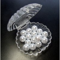 Opening Clam with Pearls