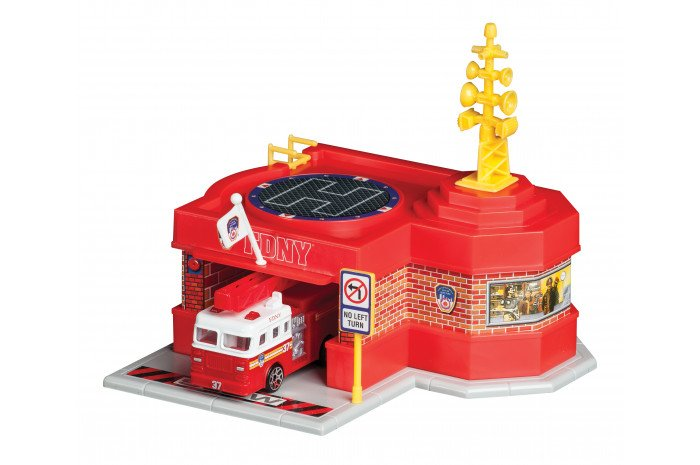 Mini Fire Station with Truck