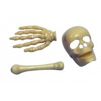 Plastic Skeleton Bones (Set of 3)