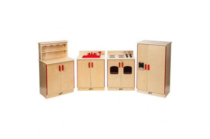 Four Piece Kitchen Set (Stove, Sink, Cupboard, Refrigerator)