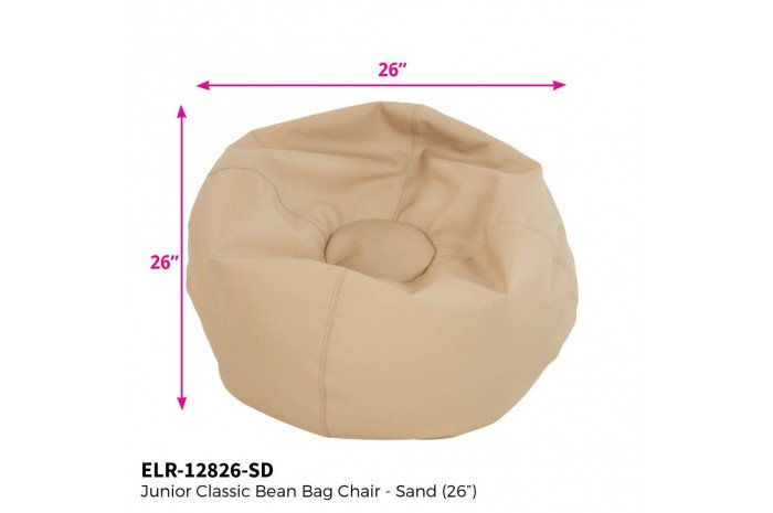 Junior Bean Bag Chair (Sand)