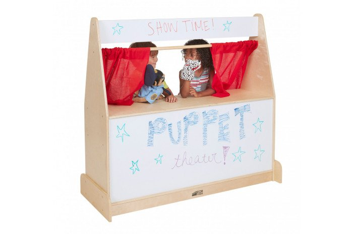 Puppet Theater with Dry Erase & Storage