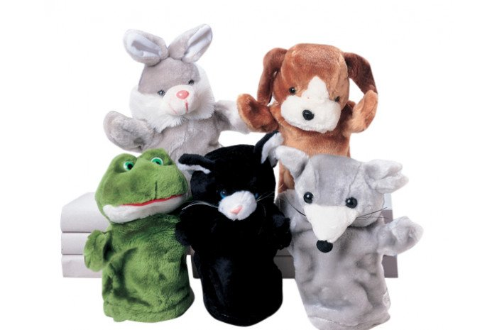 Pet Plush Puppet Set