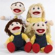 Caucasian Family Puppets