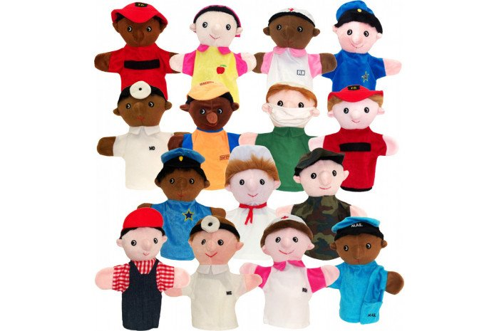 Community Helper Puppets (Set of 15)