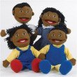 African American Family Puppets