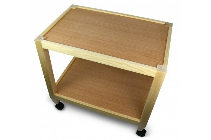 Basic Wooden Sand Tray with Rolling Cart Combo