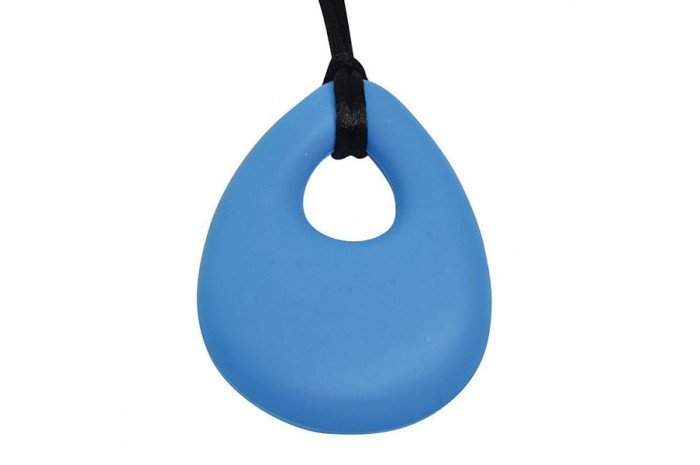 Oval Chewy Pendant-Sky Blue