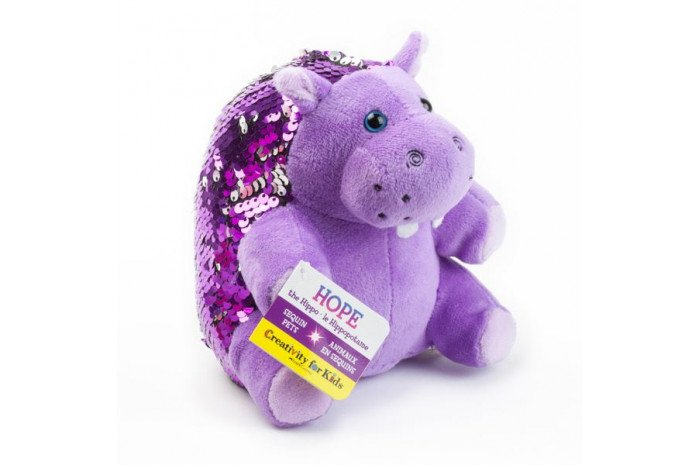 Hope the Hippo: Mini Weighted Sequin Pet