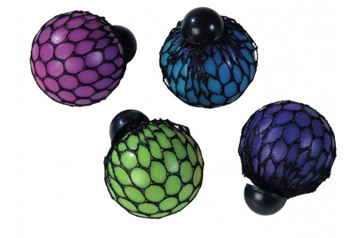 Rainbow Mesh Squeeze Ball