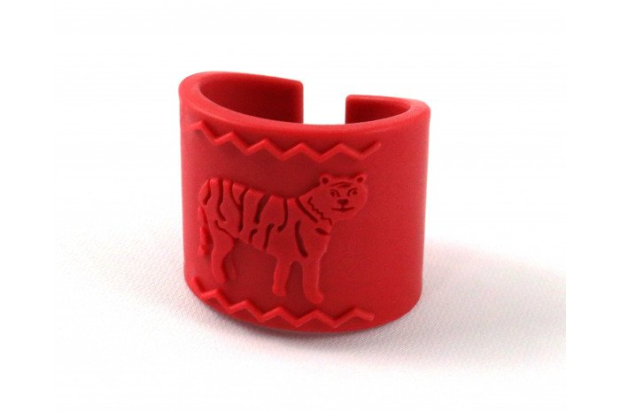 Tactile Tiger Chewable Arm Band - Red