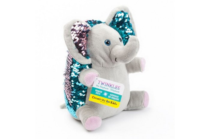Twinkles the Elephant: Mini Weighted Sequin Pet
