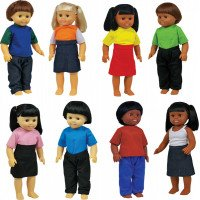 Multicultural Toddler Dolls (Set of 8)