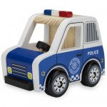 Wooden Wheels Police Car