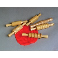 Textured Clay Rollers - Set of 6