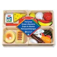 Wooden Food Set- 21 Piece