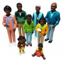 WAREHOUSE DEAL: Pretend Play Family- 8 Piece African American