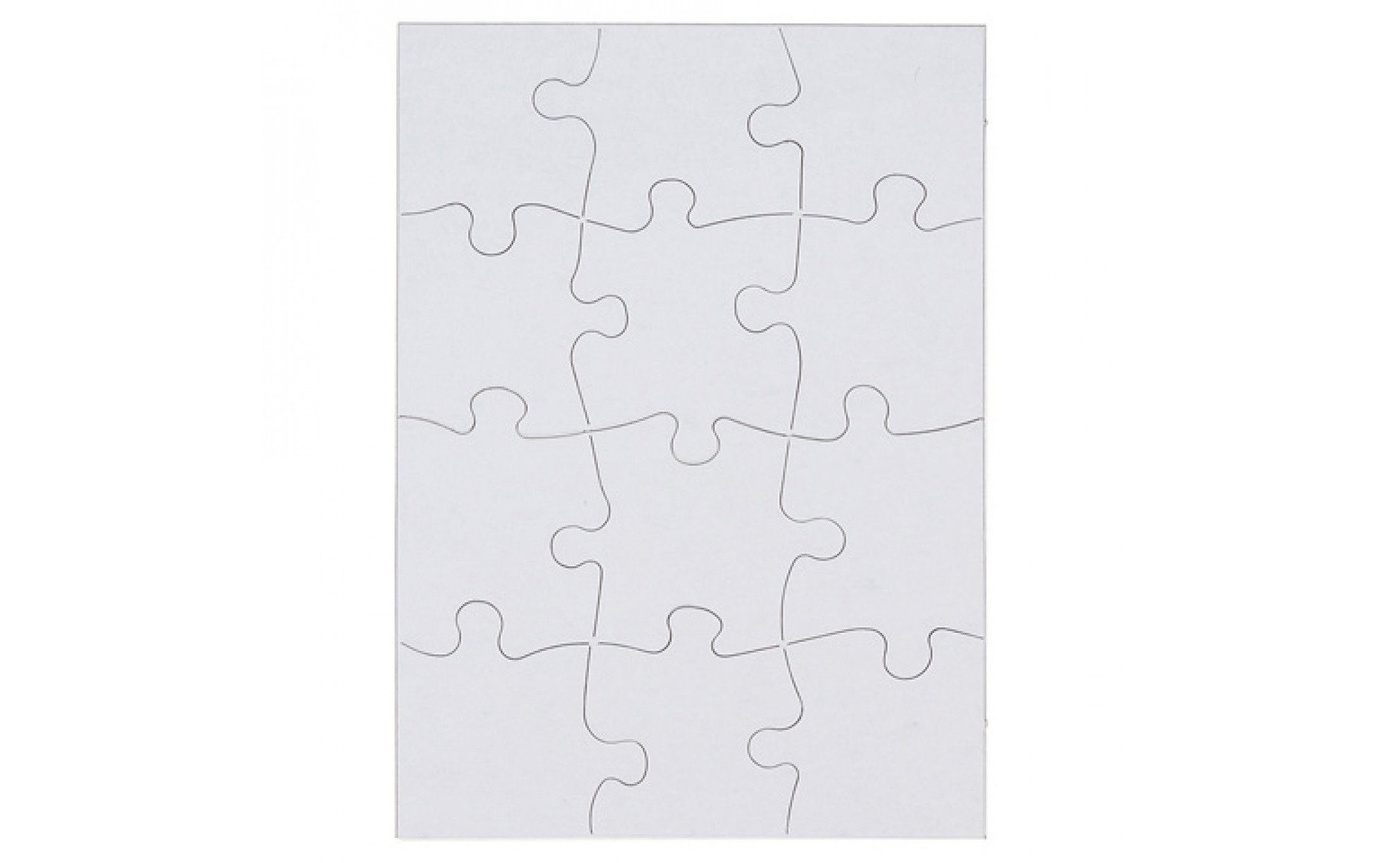 Blank Puzzles Set Of 2 Art Therapy