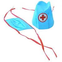 Medical dress-up hat and mask
