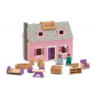 Fold & Go Mini Dollhouse (Furnished)