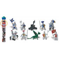Knights and Dragons Toob- 12 Figurines