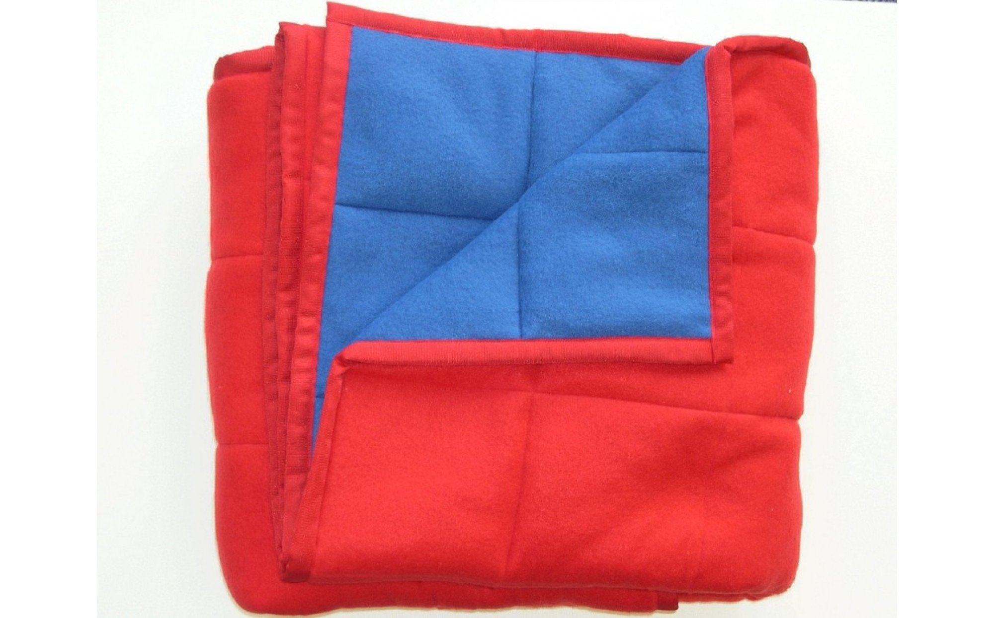 weighted blanket red blue child life specialist. Black Bedroom Furniture Sets. Home Design Ideas