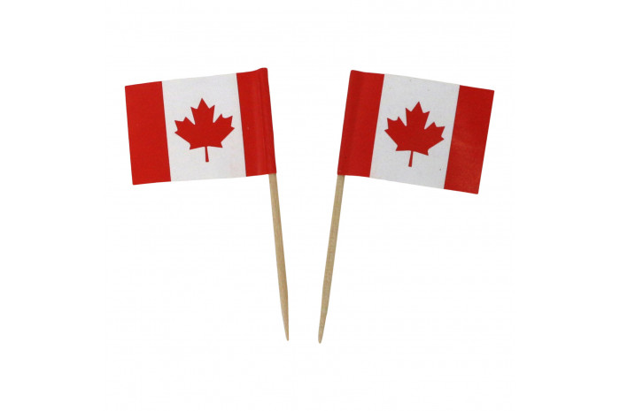 Tiny Canadian Flags (set of 2)