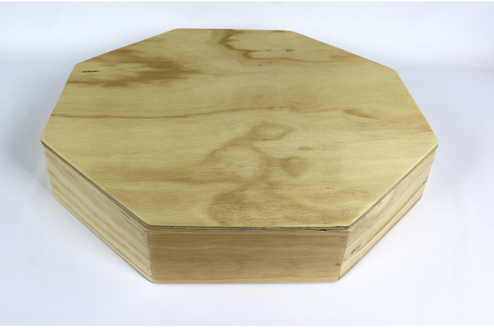 Octagonal Wooden Sand Tray with Lid